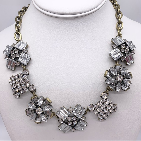J. Crew Jeweled Clusters Necklace